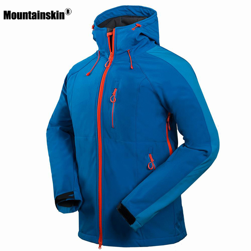 2018 Men's Hiking Jackets Softshell Jacket Men Outdoor Autumn Winter Sports Coats Waterproof Windproof Camping Ski Jacket RM091