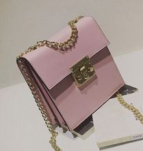 Spring and summer new fashion candy color sweet and lovely chain shoulder diagonal bag,women lady girls crossbody messenger bags