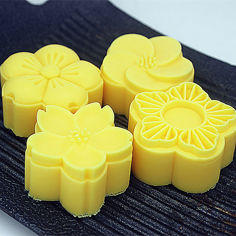 4 Patterns 3D Flower Silicone Soap Mold Handmade Candle Soap Mould DIY Cake Silicone Mould For Soap Making Supplies