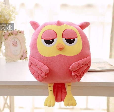 Candice guo! Korean Drama The inheritors cute pink owl hand warmer plush toy cushion Valentine's birthday gift pink 1pc