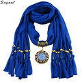 Trendy 8 Colors Vintage Design Tassel Pendant Scarf Women Lady Solid Cotton 2017 New Autumn Winter Scarves Birthday Gift Oct11