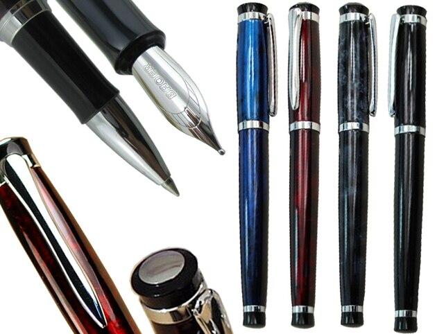 24 шт./лот, авторучки или гелевые ручки роллеры, 4 цвета на выбор, Baoer 508, стандартная ручка для офиса, школы, канцелярские принадлежности, бесплатная доставка