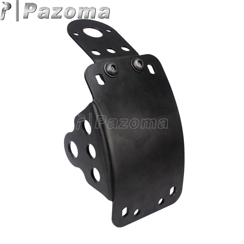 Black Side Mount License Plate Bracket Holder for Harley Bobber Chopper Cafe Racer