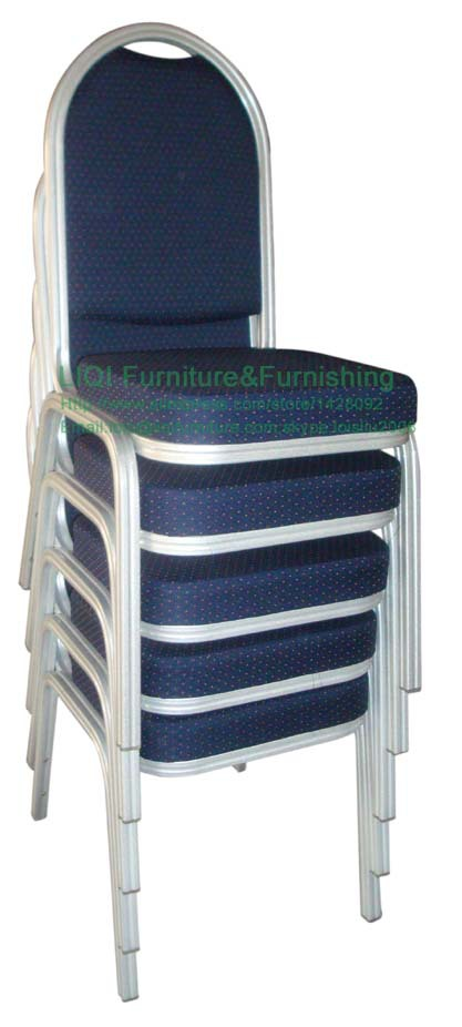 Quality strong Stacking aluminum hotel banqueting chair LQ-L2010D ceramic 4 piece stacking