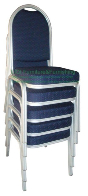Quality strong Stacking aluminum hotel banqueting chair LQ-L2010D