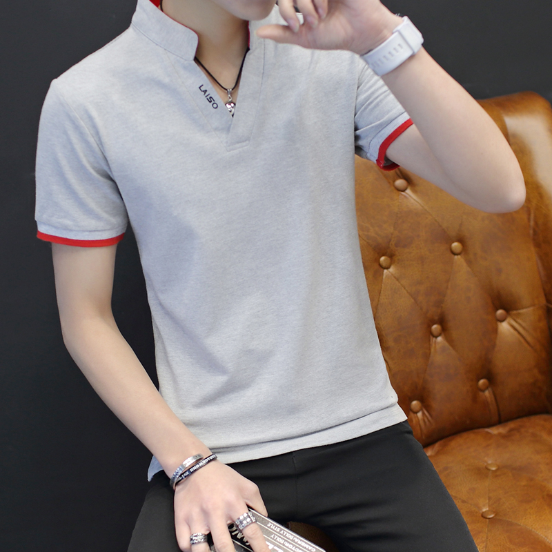 Casual summer sports camisa   polo   Kpop fashion Solid businessman basic   polo   hombre Tops Clothes Office men hipster Golf Tennis