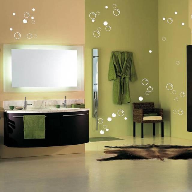 US $4.94 15% OFF|Kostenloser Versand wasserdicht bad fliesen aufkleber, 50  Seife Blasen badezimmer dekor wand quote art vinyl aufkleber aufkleber-in  ...