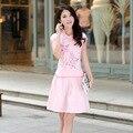 2016 Nuevo Cheongsam Del Verano Traje de Patrón de Mariposa de Las Mujeres Retro Elegante Vestidos Cheongsam Estilo Chino CS01
