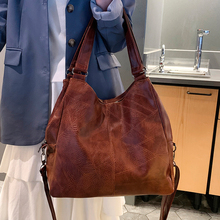 Vintage Women Handbag Luxury Handbags Women Tote Bag Designer Brand Leather Ladies Hand Bags Simple Shoulder Bags for Women 2019 недорго, оригинальная цена