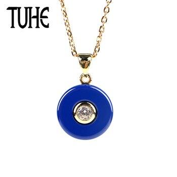 cc529413fe62 Conjunto de joyas de cerámica negra a la moda TUHE, pendientes de pulsera  de lujo para mujer, ...