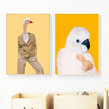 Fashion Swan Parrot Nordic Posters And Prints Wall Art Canvas Painting Animal Pictures For Living Room Bedroom Home Decor