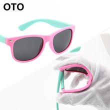 OTO Classic Baby Kids Polarized Sunglasses Children TR90 Frame UV400 Sun Glasses Boy Girls Cute Cool Goggles With Gift Car Case