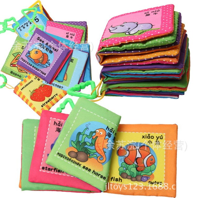 6Pcs/Set Animal Cloth Book Learning Resources Baby Book