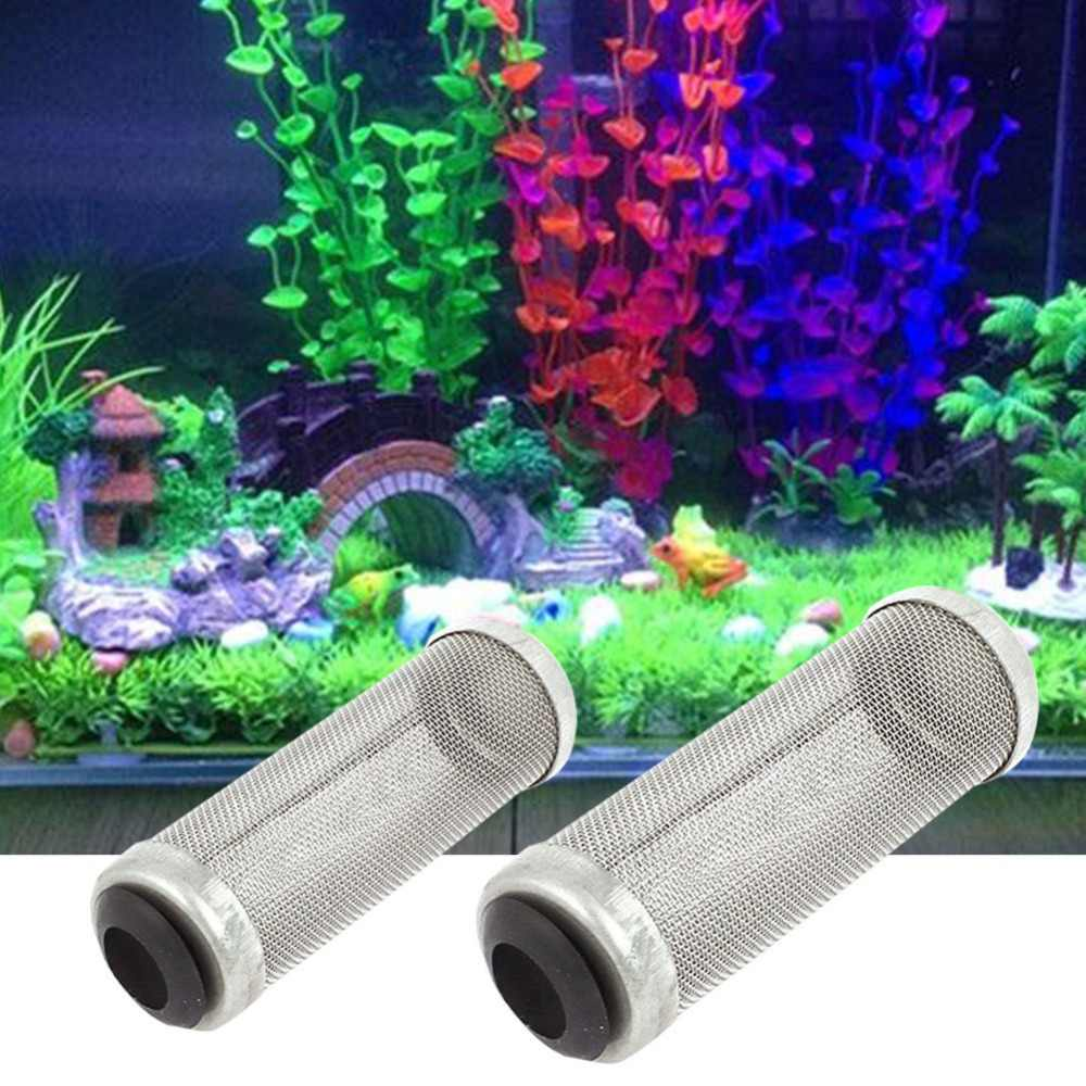 Merek Aquarium Stainless Steel 12mm/16mm Mesh Filter Penjaga Fish Shrimp Lily Pipa Tabung Intake Pipa Konektor