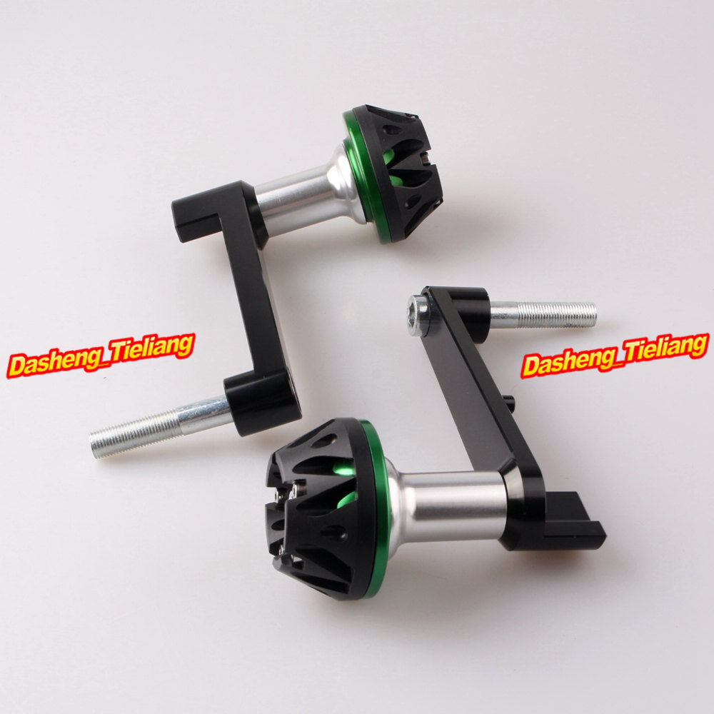Frame Sliders Crash Pads Protector for Honda CBR 1000RR 2008 2009 2010 2011 2012 2013 CNC Aluminum Alloy, Green for honda cbr 1000rr cbr1000rr 2008 2009 2010 2011 gold motorcycle frame slider crash protector bobbins falling protection