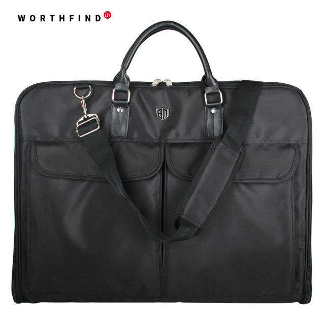 Worthfind 2018 Black Nylon Waterproof Garment Bag With Handle Lightweight Men S Travel For Suits Business