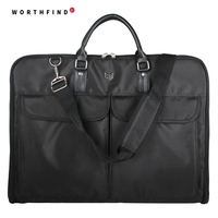 Lightweight Black Nylon Business Dress Garment Bag With Hanger Clamp Waterproof Suit Bag Durable Men S