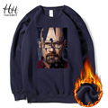 HanHent Breaking Bad Sweatshirts Thick Men Streetwear Fleece Fashion Round Collar Pullover Clothes Printed Heisenberg Hoodies