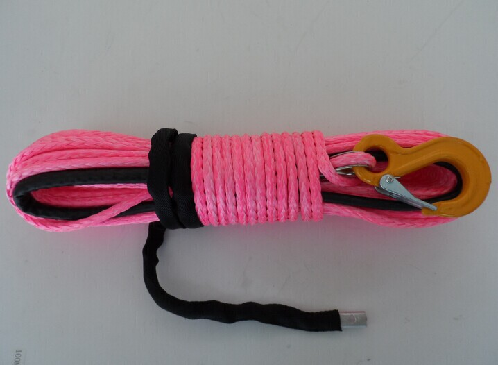 high quality 8mm*28m plasma winch rope,kevlar rope