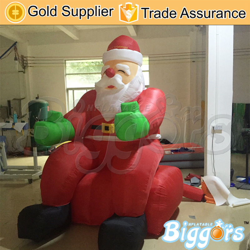 Outdoor And Indoor Giant Inflatable Advertising Shape Santa Claus Christmas Gift Decoration For Sale ao058m 2m hot selling inflatable advertising helium balloon ball pvc helium balioon inflatable sphere sky balloon for sale