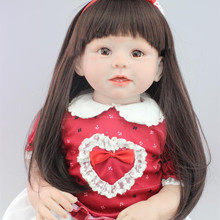 70cm Reborn Toddler Dolls Cute Girls Clothing Model Lifelike Silicone Reborn Baby Dolls Realistic Toys Dolls For Girls kids