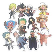 One Piece Stickers Pvc Waterproof 61pcs