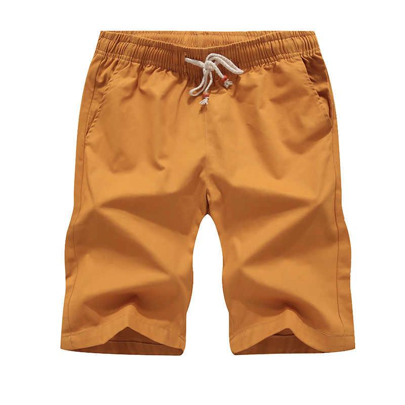 Летние мужские шорты Карго пляжные шорты мужские s бермуды Masculina повседневные хлопковые однотонные шорты плюс размер M-5XL бермуды Masculino