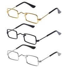 Baby Photography Glasses Props Funny Metal Eyewear Newborn Decoration Photo Shot Studio Scholar Business Square Frame No Lens(China)