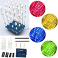 4X4X4 Blue/Red/Yellow/Green LED Light Cube Kit 3D LED DIY Kit Electronic Suite For Arduino