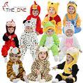 Детские Мальчики Девочки 0-2 Т Зима Фланелевые Пижамы Новорожденных Косплей Халат Дети Одеяло Шпалы Пижамы Домашняя Одежда Одежда 18 стили