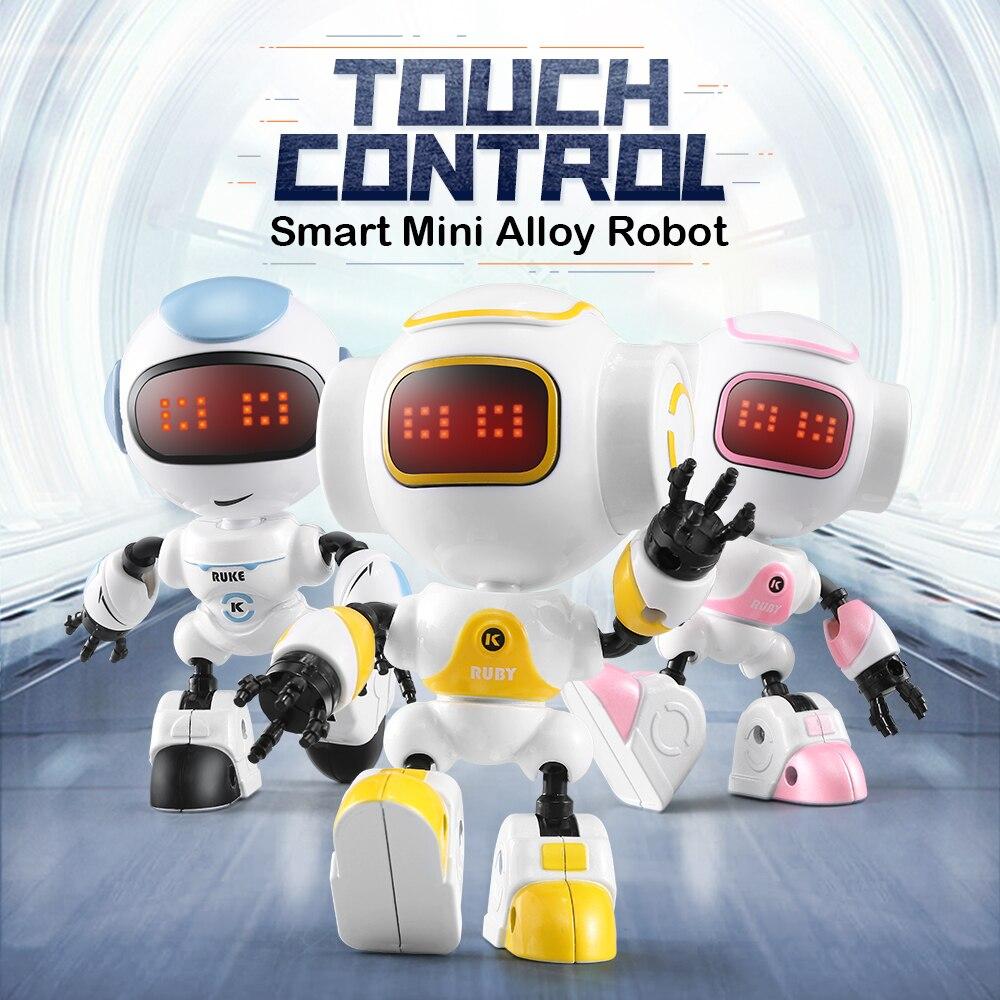 JJRC Intelligent R8 RUKE / R9 Ruby Touch Control DIY Gesture Mini Smart Voiced Alloy Robot Christmas Gift Children Toys