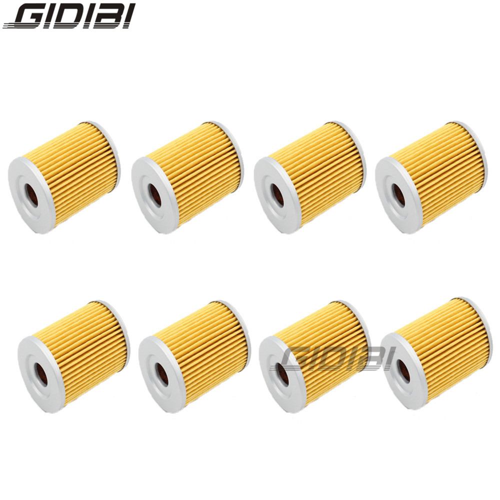 Motorcycle Accessories & Parts Motorcycle Filters 8 Pcs Oil Filter For Suzuki Dr-z125 L K3,k4,k5,k6,k7,k8,k9,l0,l1,l2,l3,l4 2003-2014 Dr125 Se,x,y 1998-2000 Sp125 G,h,j 86-88 Consumers First