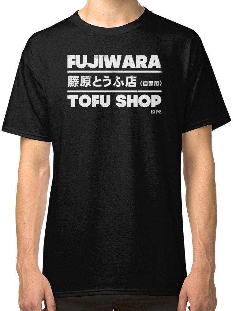 Initial D - Fujiwara Tofu Shop Mens Black Tees Shirt Clothing