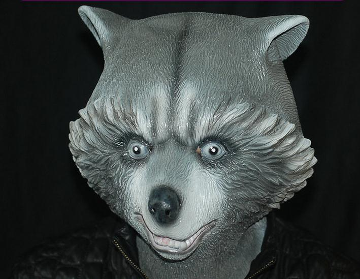 New Halloween Latex Bear Mask For Adult Realistic Fancy Costume Rubber Latex Polar Bear Mask for Halloween Christmas Masquerade