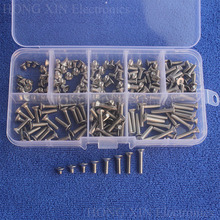 200pcs M3 304 Stainless Steel Bolts Hex Socket Head Flat Screws Assortment Kit countersunk head flat head screw Standard screw 20pcs m3x25mm stainless steel flat countersunk head hexagon thread screws bolts 20pcs m3 nuts