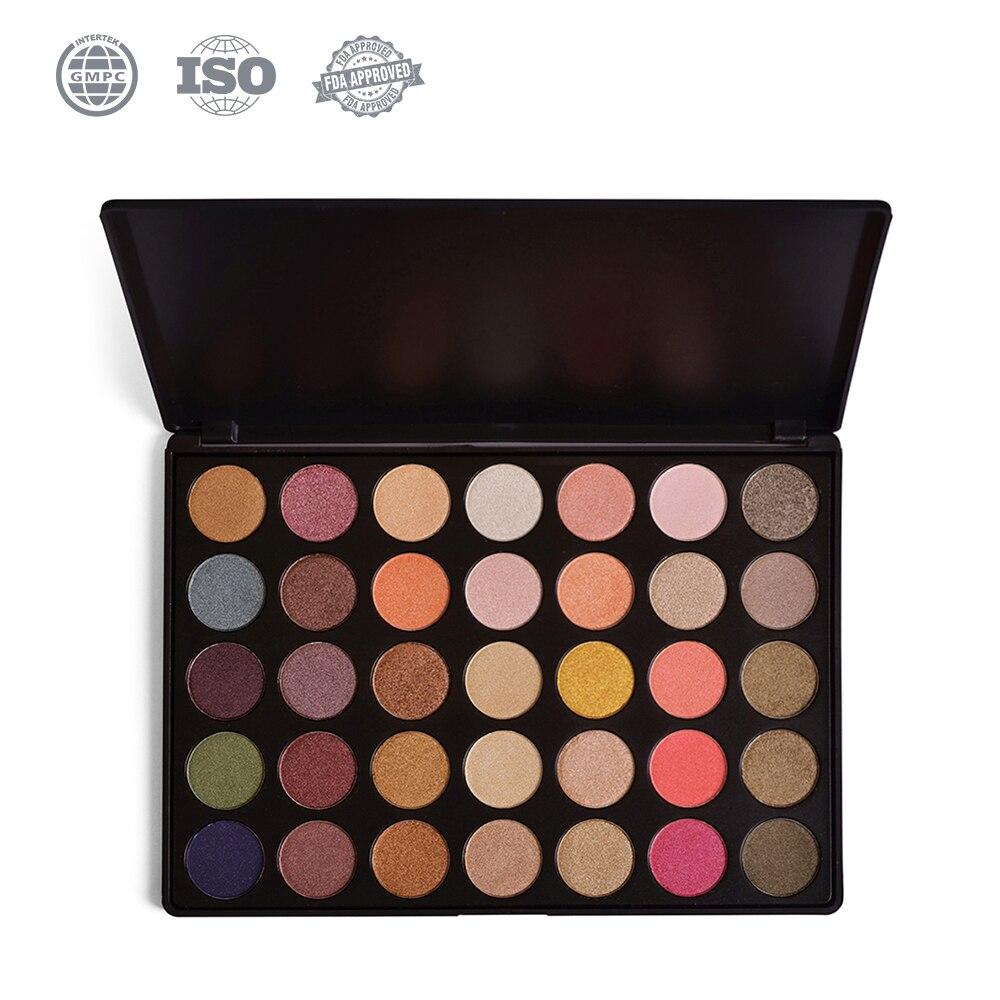 Pigmentée Fard À Paupières Palette 35 Couleur Ombre Palette Smokey Mat Shimmer Eye Maquillage