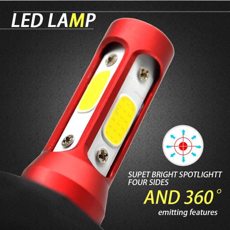 JGAUT 4 Side COB H7 Led H4 Car Lights Headlight 880 H9 H11 9005 H1 H3 9006 80W 12000lm 6000K Bulbs Auto Headlamp Fog Light 12V
