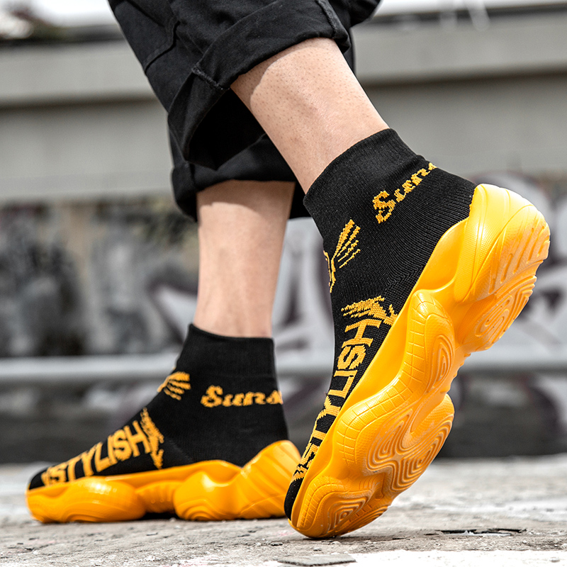 Top Respirant on Marche High Bottes Slip Adulto Sneakers Yellow 9921 Homme 9921 Tenis black Masculino Cheville Causalité De Black Hommes Mode Nouveau Red Chaussures White wvPYYx