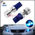 2 unids Super Brillante Azul 6x5 W CRE'E 168 194 2825 W5W T10 Bombillas LED Para Coche luces de Estacionamiento, Luces de la Cola Del Coche luz