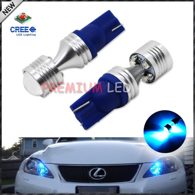 2pcs Super Bright Blue 6 x 5W  168 194 2825 W5W T10 LED Bulbs For Car Parking Lights,Car Tail Light carprie super drop ship new 2 x canbus error free white t10 5 smd 5050 w5w 194 16 interior led bulbs mar713