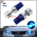 2pcs Super Bright Blue 6 x 5W CRE'E 168 194 2825 W5W T10 LED Bulbs For Car Parking Lights,Car Tail Light