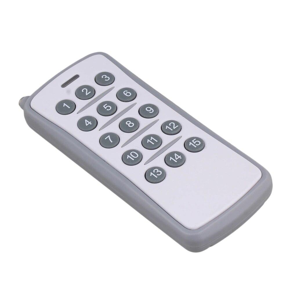 433 MHz 15CH Garage Door Telecomando Senza Fili Trasmettitore 15 Pulsanti433 MHz 15CH Garage Door Telecomando Senza Fili Trasmettitore 15 Pulsanti