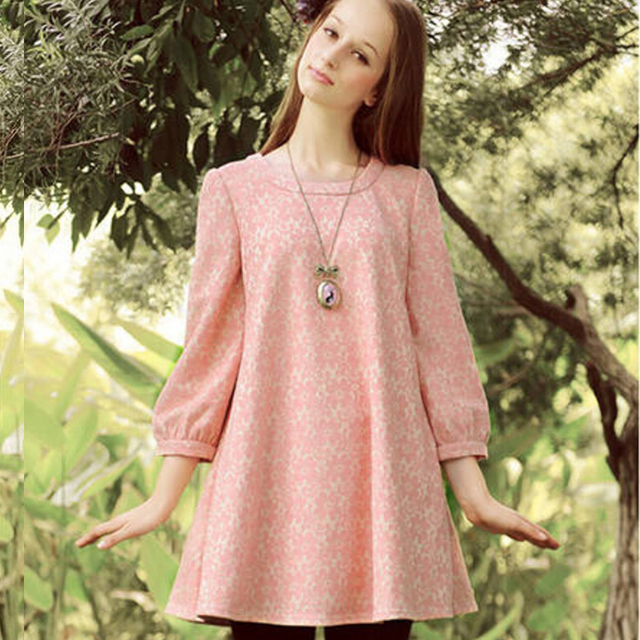 5ebd827acaf78 Women Clothes Tops For Pregnant Women Maternity One-Piece Dress Loose  Maternity Lace Three Quarter