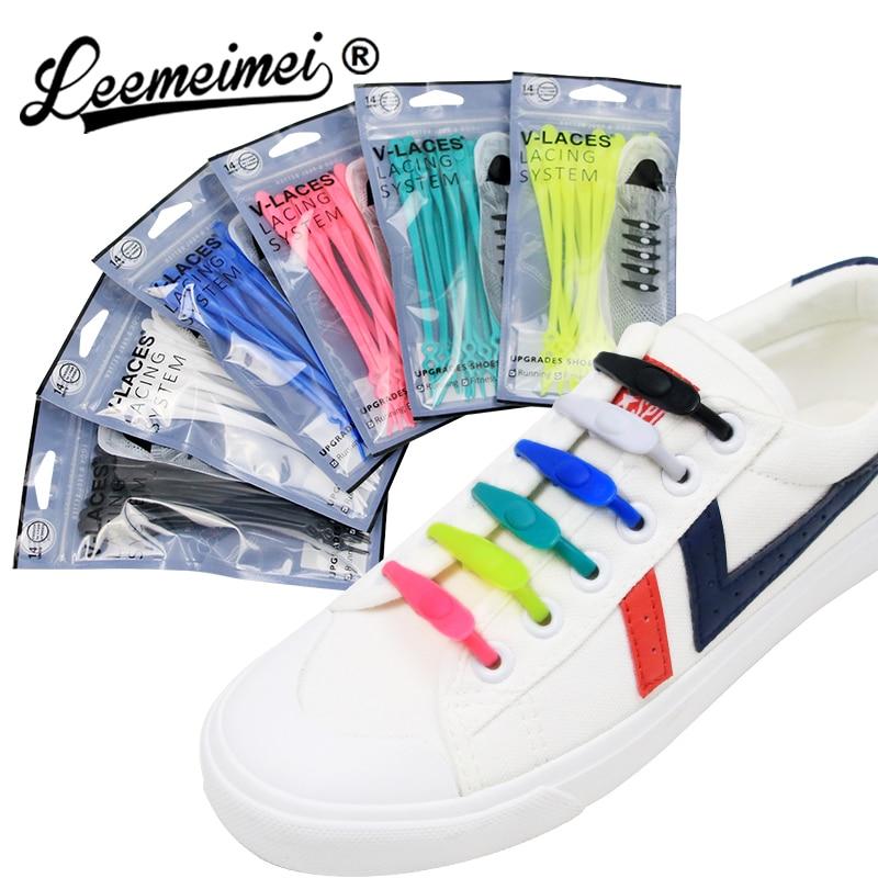 14pcs/lot Round Creative No Tie Shoelaces Elastic Silicone Shoe Lace 14pcs/lot Round Creative No Tie Shoelaces Elastic Silicone Shoe Lace