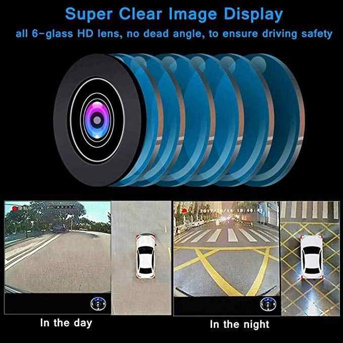360 градусов панорамная система для птиц Водонепроницаемая бесшовная 4 камера Автомобильный видеорегистратор универсальная запись Парковка задняя камера заднего обзора для всех автомобилей