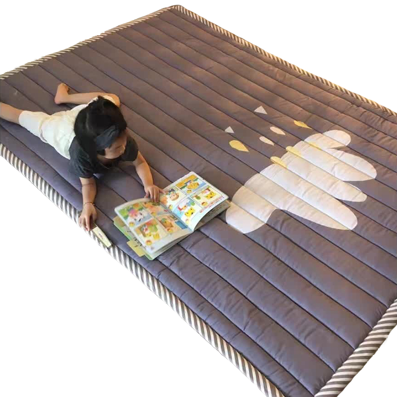 New 2cm Thickness Baby Play Mat Living Room Children Floor Carpet Rug for Kids Washable Rugs Anti-skid Bedroom Crawling Mattress wood grain flannel skid resistant rug