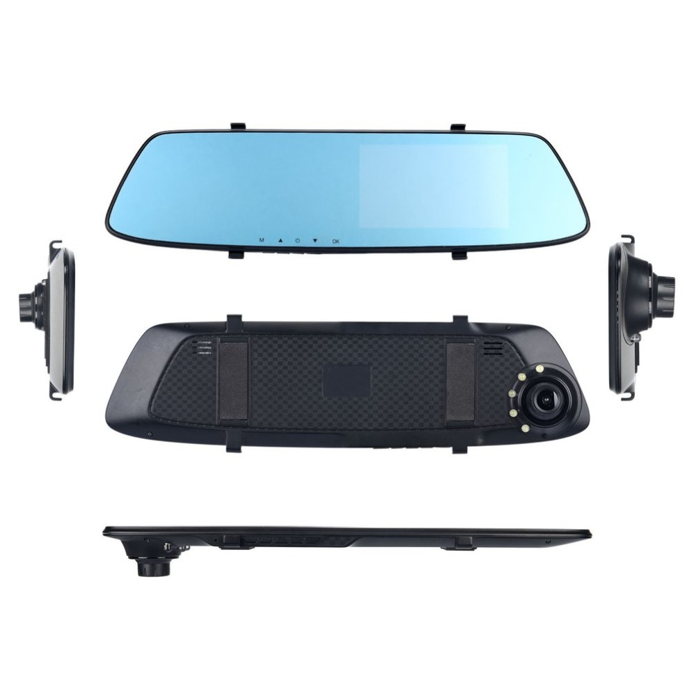 new Full HD 1080P Car DVR Camera 4.3 Inch Rearview Mirror Wide Angle Digital Video Recorder Night Vision Auto Camcorder