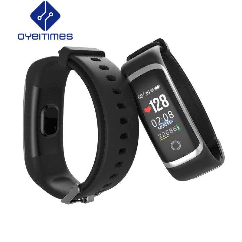 OYEITIMES M4 Bracelet intelligent moniteur de sommeil Bluetooth Fitness Tracker rappel d'appel prendre des Photos Bracelet de Sport pour iOS Android