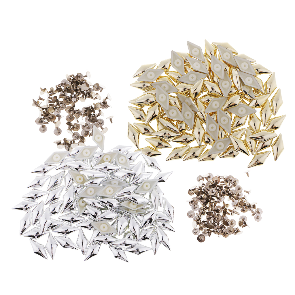 Apparel Sewing & Fabric Responsible 100 Sets Plastic Rhombus Studs Punk Spike Rivet For Leather Crafts Repairs Silver/gold