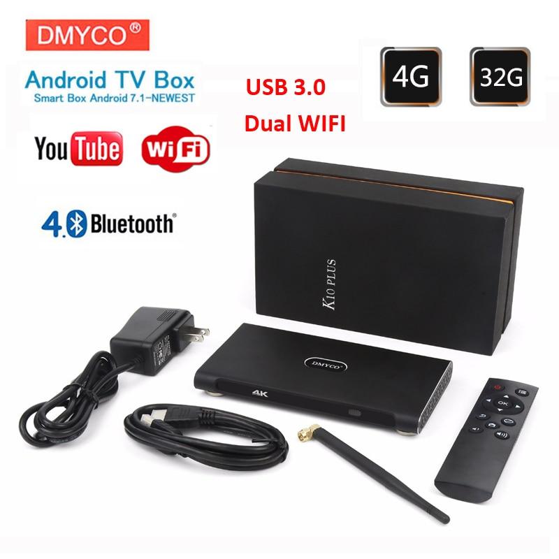 Android TV BOX K10 Plus RK3399 4GB RAM 32GB ROM Android 7.1 2.4G/5.0G Wifi H.265 4K Set-top box VP9 BT4.0 USB3.0 Media Player цена 2017